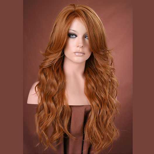 SEPIA - Luxe pruik rood lang haar model Cala - Mooie pruiken ...