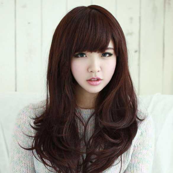 Mooie pruik donkerbruin haar - Mooie pruiken bij PruikenPlaza