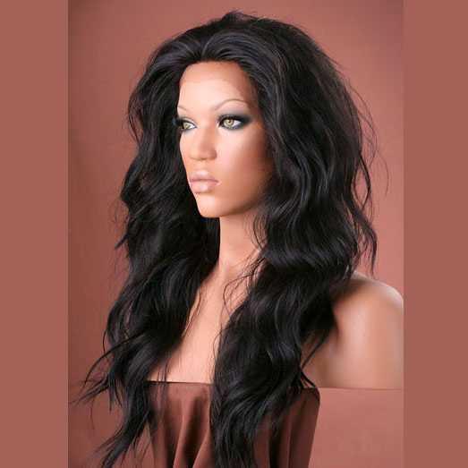 Lace pruik lang golvend haar model Yvonne kleur 2