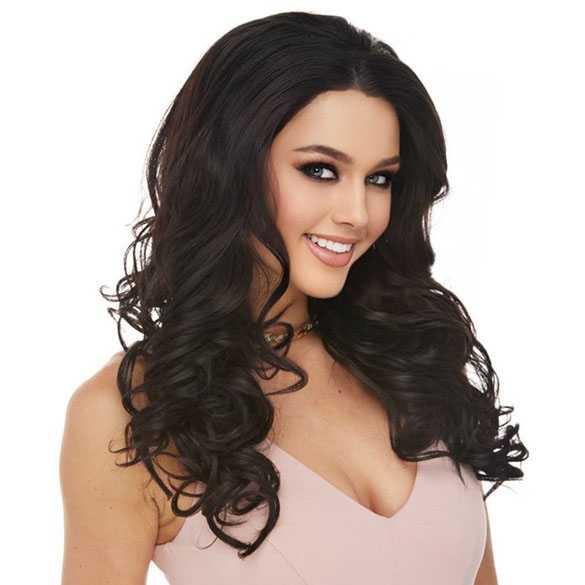 Lace pruik lang haar met krullen model Sofia kleur 2