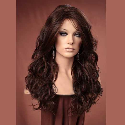 Lange Pruiken Echt Haar.Pruik Lang Haar Met Krullen Model Gabby Kleur Fs6 30 Mooie