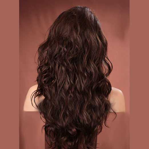 Pruik lang haar met krullen model Gabby kleur FS6/30