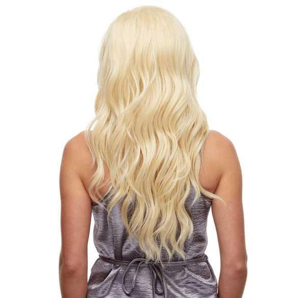 Lace pruik lang lichtblond golvend haar model Yvonne kleur 613