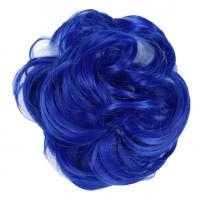 Color haar scrunchie met elastiek koningsblauw