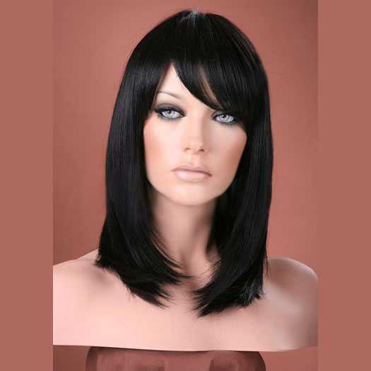 Luxe pruik halflang steil haar model Missy kleur 2