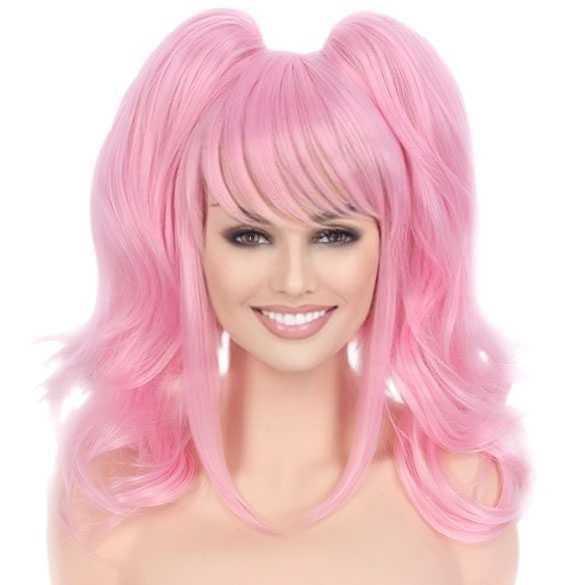 WEEK AANBIEDING : Zoet roze lolita pruik met 2 staarten op klem