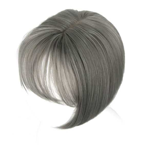 Clip in haartopper steil haar met pony kleur 10A