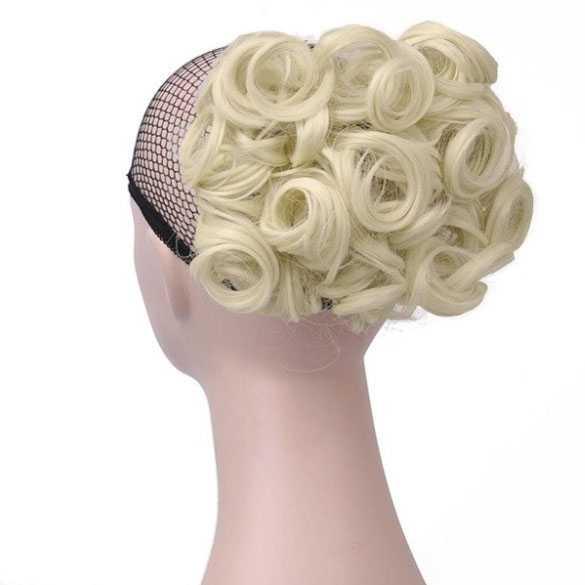 Chignon elastisch haarstukje / vlinderkam kleur 613