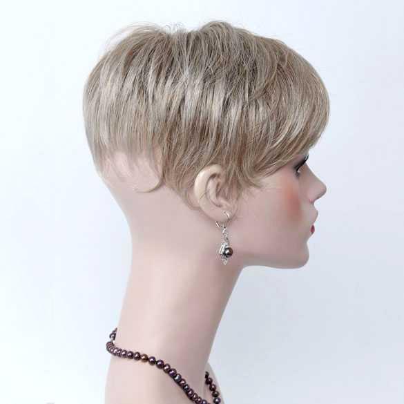 Haartopper met clips grijsmix kleur 230T