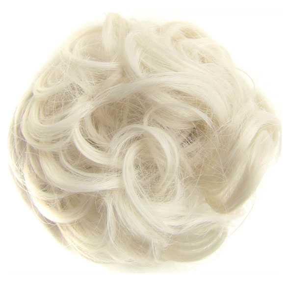 Haar scrunchie met elastiek witblond kleur 60