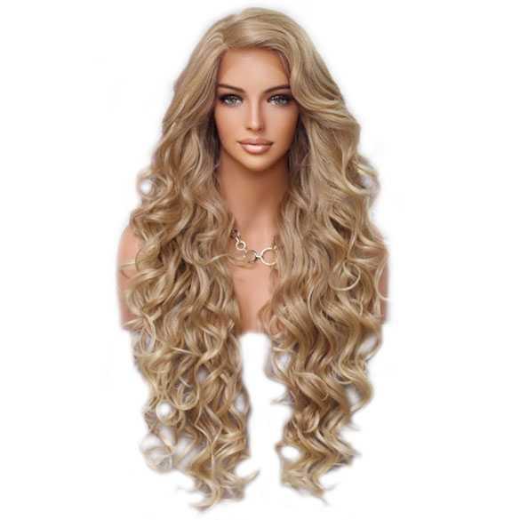 Lace pruik lang haar zonder pony model Primrose T27/613