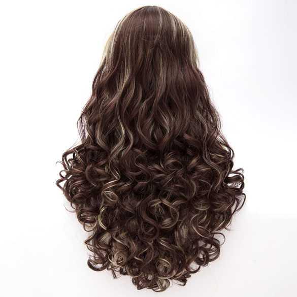 Luxe duo-color lolita pruik lang haar met krullen