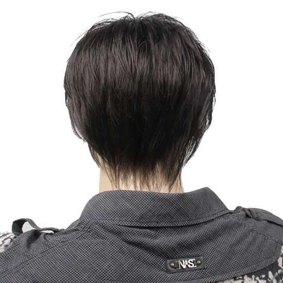 Herenpruik kort model bruin haar