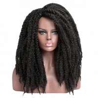 Luxe rasta dreadlocks pruik lang zwart haar zonder pony