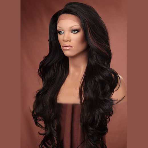 Lace pruik lang haar zonder pony model Kim kleur FS1B-30