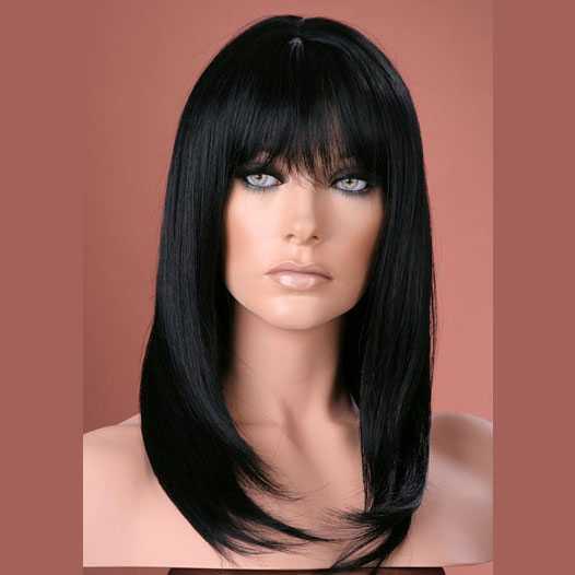 Pruik mix met echt haar model Miranda kleur 1