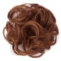 Haar scrunchie met elastiek honing lichtbruin kleur 30