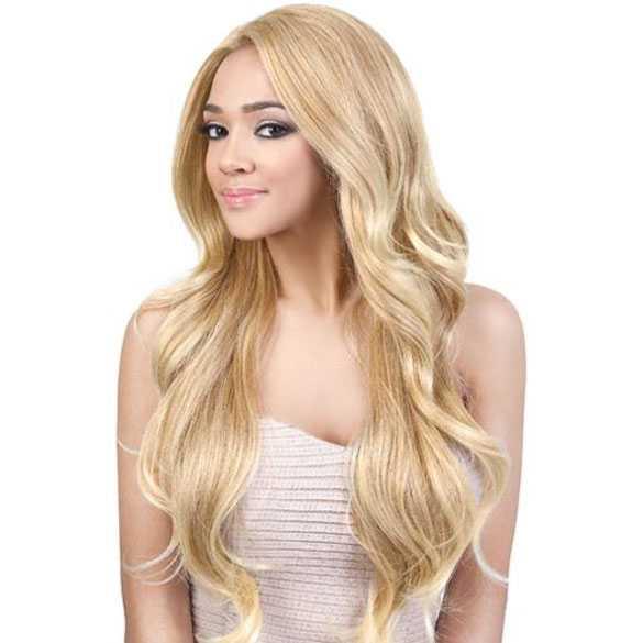 Lace front pruik zeer lang haar met slagen model Envy