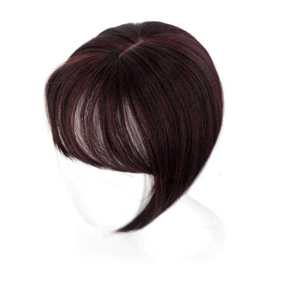 Clip in haartopper steil haar met pony kleur 2-35