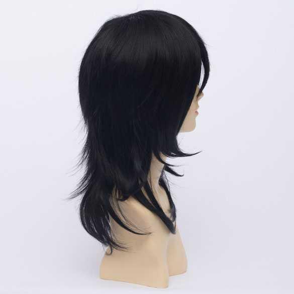 Anime pruik zwart haar in laagjes