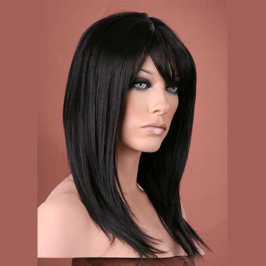 Pruik mix met echt haar model Miranda kleur 2