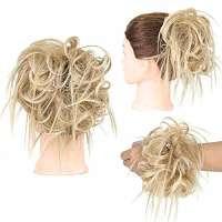 Warrige haar scrunchie met elastiek blondmix kleur 27T613