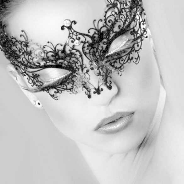Luxe Venetiaans carnaval masker met strass steentjes