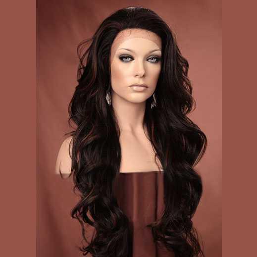 Lace pruik lang haar zonder pony model Kim kleur FS4-30