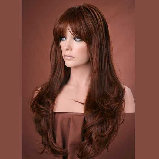 Pruik lang rood haar model Kristen kleur 30