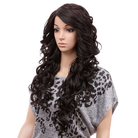 SALE : Freetress pruik lang zwart haar zonder pony model Sabella 4