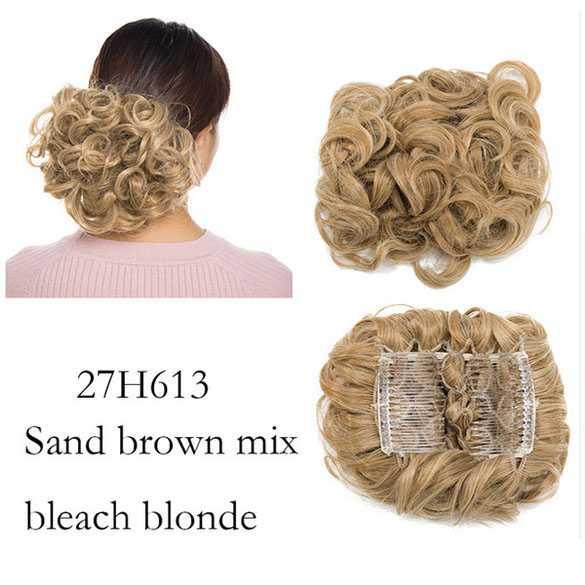 Chignon elastisch haarstukje / vlinderkam kleur 27H613
