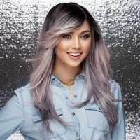 Pruik lang steil haar model Hipster kleur Ash Pink Nite