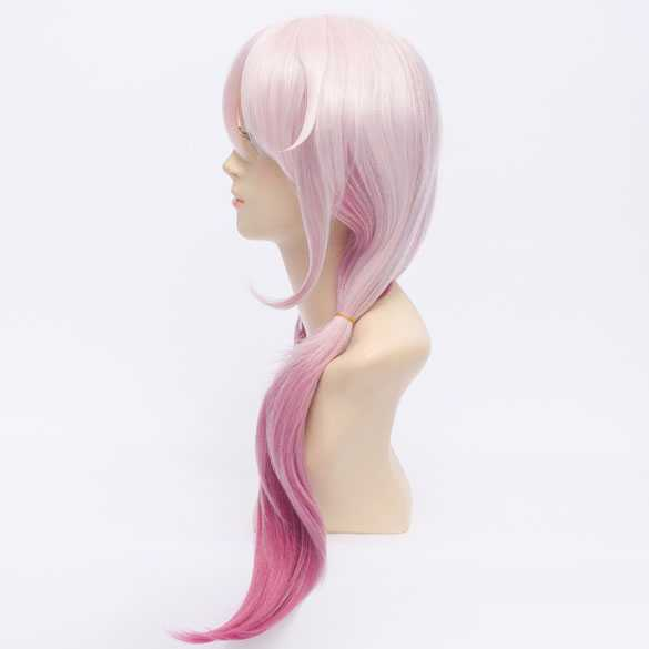 Cosplay pruik ombre roze lang haar met staartjes
