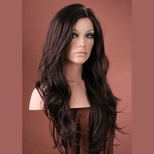 Forever Young pruik lang bruin haar model Cosabella kleur 4