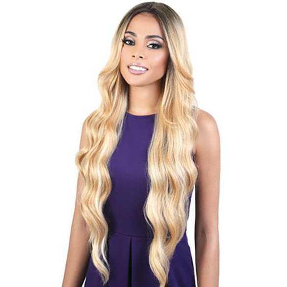 Lace front pruik zeer lang haar met slagen model Hera