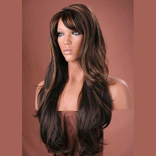 SALE : Sexy pruik lang haar met slagen model Carmen kleur FS4/12