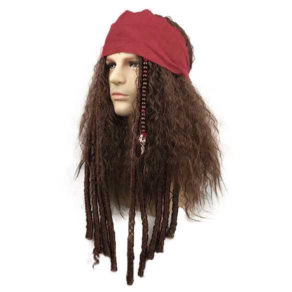 Piraat / zeerover pruik met bandana