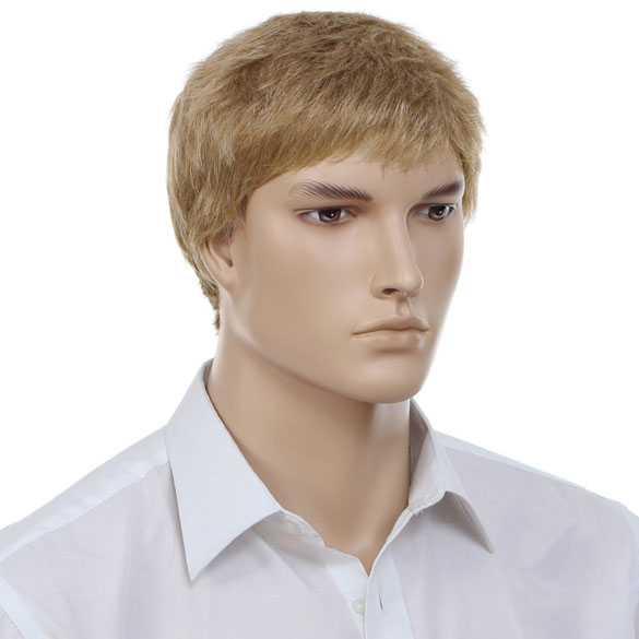 Mannenpruik blondmix kort