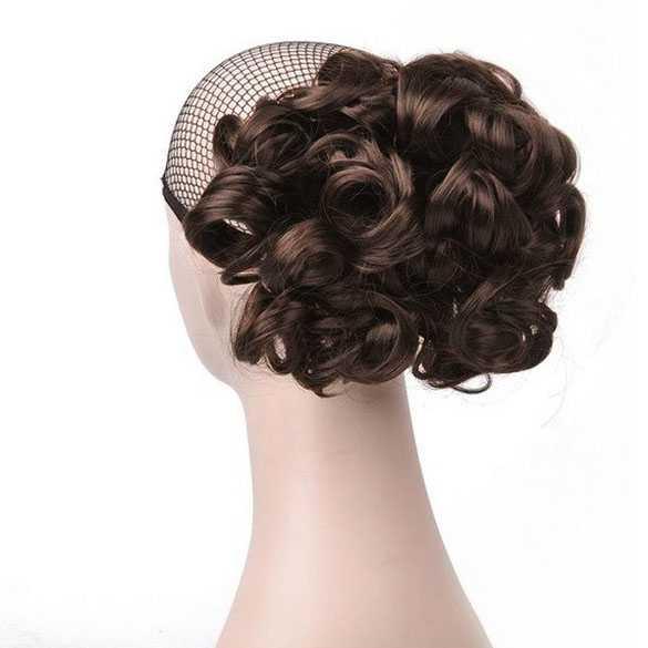 Chignon elastisch haarstukje / vlinderkam kleur M4