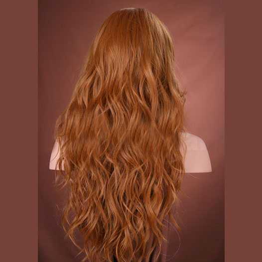Luxe pruik rood lang haar met slagen model Cala kleur 27