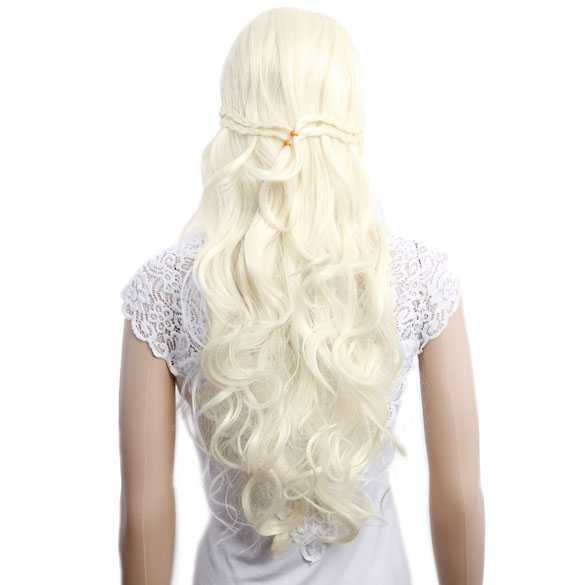 Game of Thrones pruik lichtblond Princess Daenerys Targaryen