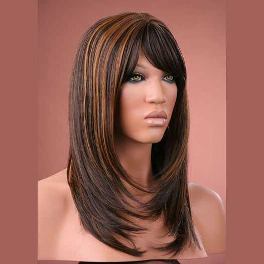 Pruik mix met echt haar model Miranda kleur P4-27