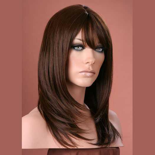 Pruik mix met echt haar model Miranda kleur 6