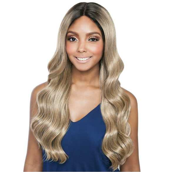 Brown Sugar lace pruik mix met echt haar model BSD2608 Philly Ari
