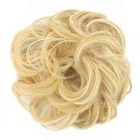 Haar scrunchie met elastiek geelblond mix 1003