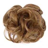 Haar scrunchie met elastiek goudblond kleur 19