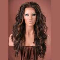 Lace pruik lang golvend haar model Yvonne kleur FS4/27