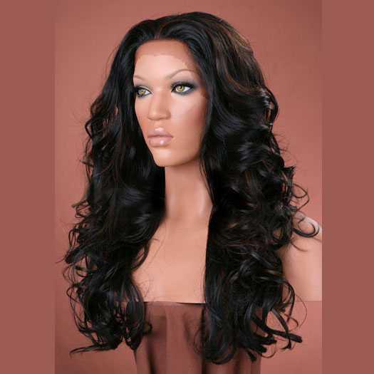 Lace pruik lang haar met krullen model Sofia kleur FS1B/30