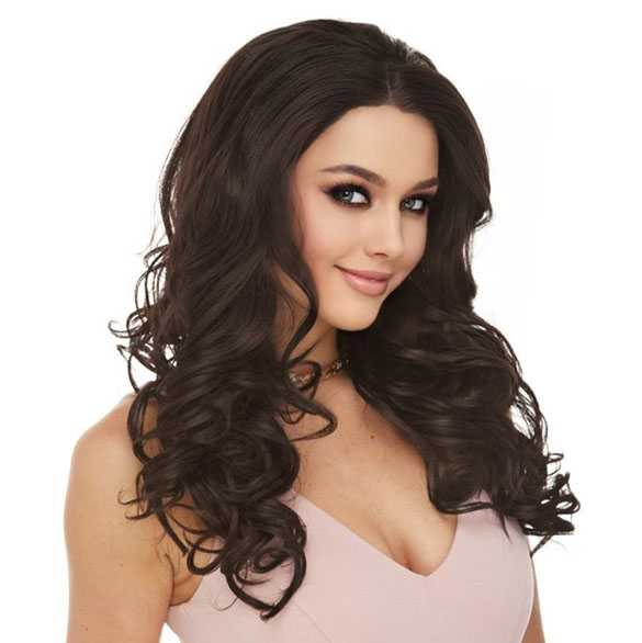 Lace pruik lang haar met krullen model Sofia kleur 4