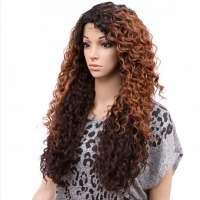 Lace pruik lang haar met volle krullen Kitron OP27